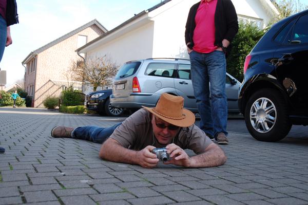 Fotograf und Mockengänger Andreas wie immer mit vollem Körpereinsatz