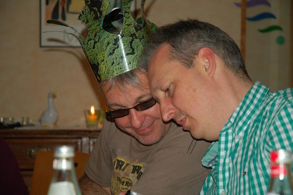 Andreas möchte auch mal die Krone tragen